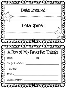 Create Your Own Time Capsule - Back to School Activity