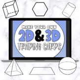 Create Your Own Trading Cards: 2D & 3D Shapes - Templates & Trading Card Games