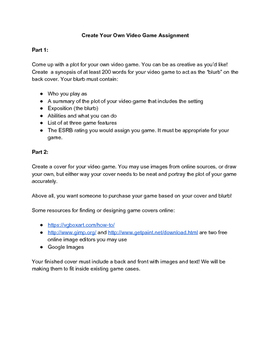 Create Your Own Video Game