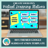 Create Your Own Virtual Learning Stations - 90's Themed