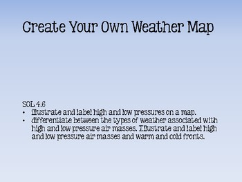 Create Your Own Weather Map by The Frizzle Life | TpT