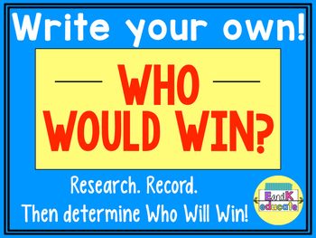 Create Your Own Who Will Win!