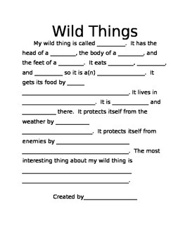 Create Your Own Wild Thing