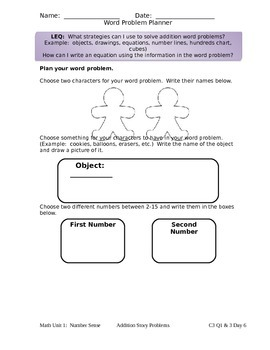 Create Your Own Word Problem