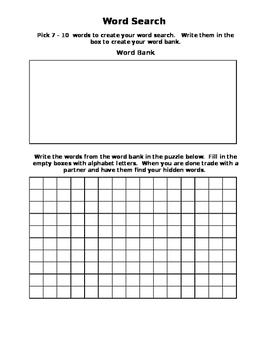 Create Your Own Word Search