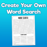 Create A Word Search Printable - For Upper Graders!