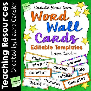 Word Wall Cards (Editable)