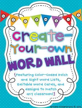 Create Your Own Word Wall {Editable!}
