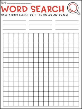 Create Your Own Wordsearch