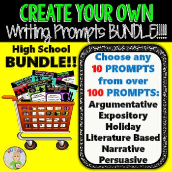 Create Your Own Writing Prompts BUNDLE!!!  10 Prompts!! All Writing Styles!!!
