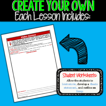 Create Your Own Writing Prompts BUNDLE!!!  15 Prompts!! All Writing Styles!!!