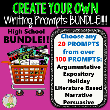 Create Your Own Writing Prompts BUNDLE!!!  20 Prompts!!!  All Writing Styles!!!