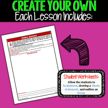 Create Your Own Writing Prompts BUNDLE!!!  10 Prompts!!!  All Writing Styles!!!