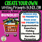 Create Your Own Writing Prompts BUNDLE!!!  10 Prompts!!!