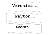 Create Your own desk name tags