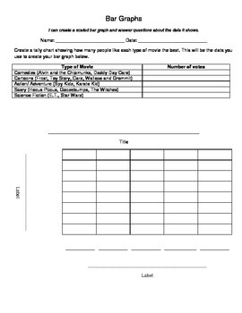 Create a Bar Graph Worksheet