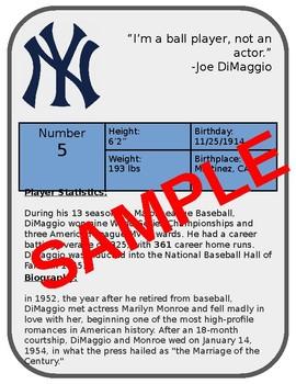 Create A Baseball Card Ppt Or Google Slides