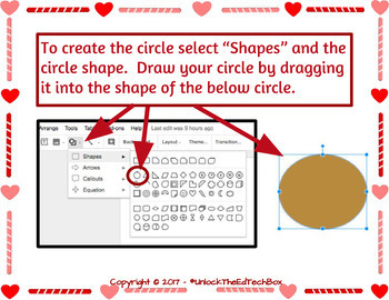 Create a Bear Valentine Card in Google Slides or Google Drawing - Graphic Design
