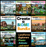 Create-a-Biome Clip-Art BUNDLE! Landforms, Plants, Wildlif