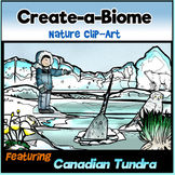 Create-a-Biome Clip-Art- Canadian Tundra- 36 pcs. BW/Color!