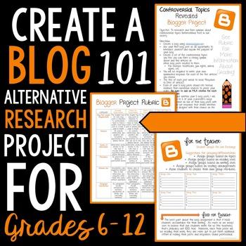 Create a Blog 101: Alternative Research Project