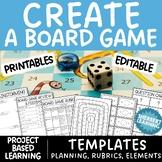 Create a Board Game! Fun Math Project Based Learning & Pro