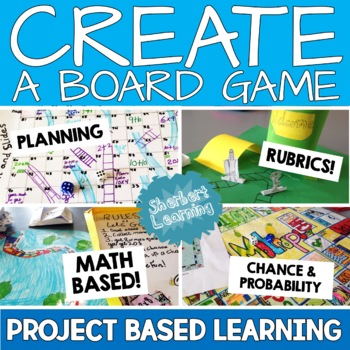 Create a Board Game! Math project and probability unit!