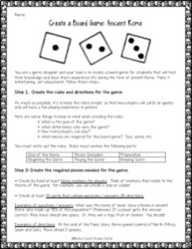 Create a Board Game of Ancient Rome - a Fun and Engaging Group Project