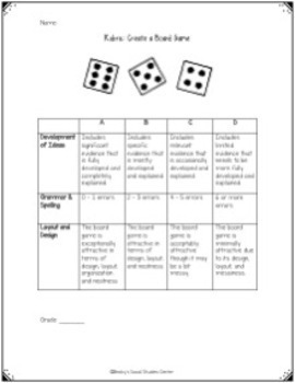 Constitution and Bill of Rights Project: Create a Board Game
