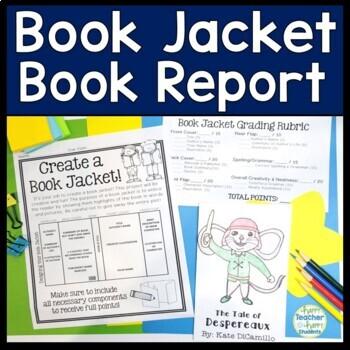 Book Jacket: Book Jacket Book Report - Writing, Art & Read
