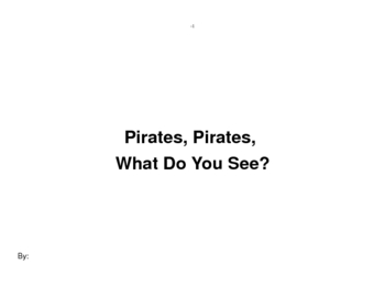 Create-a-Book - Pirate, Pirate What Do You See