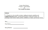 Scientific Revolution Create a Book Group Activity