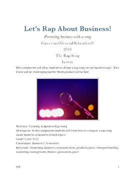 Create a Business Rap Song