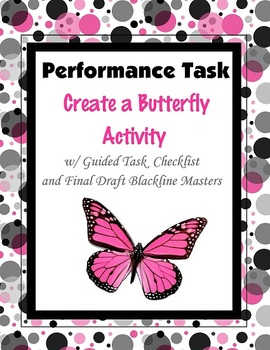 Create a Butterfly Writing Activity Task