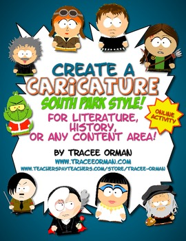 Free Create A Caricature Literature Or History Activity South Park Style