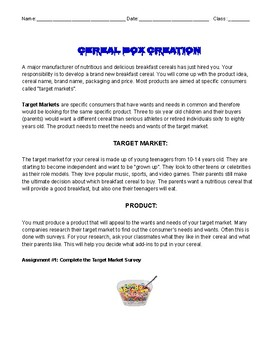 Create a Cereal Project
