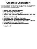 Create a Character