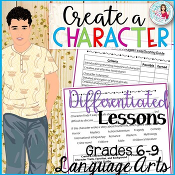 Characterization Mini-Unit: Create a Character, Character Analysis + More