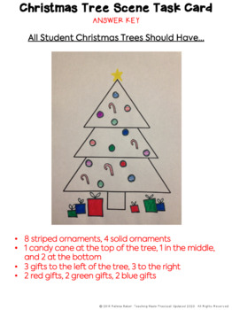 Christmas Fraction Art Activity - Christmas Fractions with Coloring