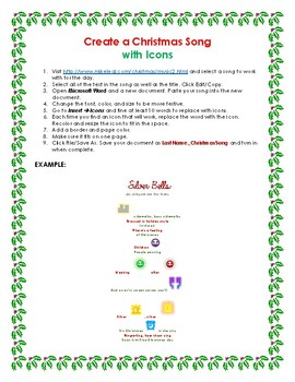 Create a Christmas Song with Icons in Microsoft Word