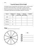 Create a Circle Graph (Favorite Seasons)