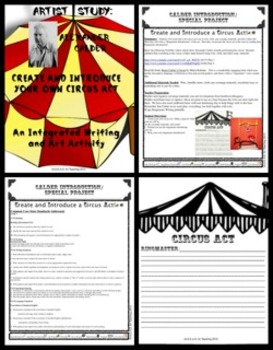 Create a Circus Act Calder Style!  A Writing, Presentations, and Art Activity