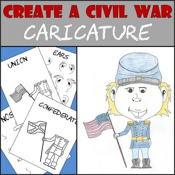 Civil War Caricature  -  Mini Art Project