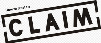 Create a Claim ELA Lesson Plan, Activity, & Handout. COMMON CORE ALIGNED.