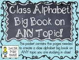 Create a Class Alphabet Big Book on ANY TOPIC! ~ Easy to Use Printables!