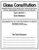 Create a Class Constitution Classroom Rules Back to School Group Activity