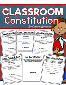 Create a Class Constitution Classroom Rules Back to School