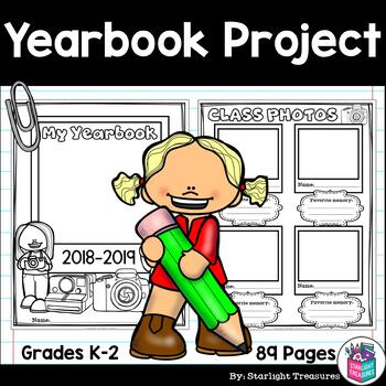 Create a Class Yearbook Project for Early Learners - Editable