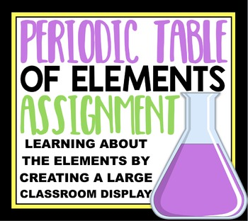 Create a Classroom Periodic Table:  Collaborative Classroom Activity