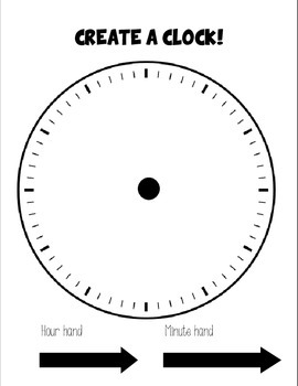 Create a Clock - Free! - Tell time in no time!